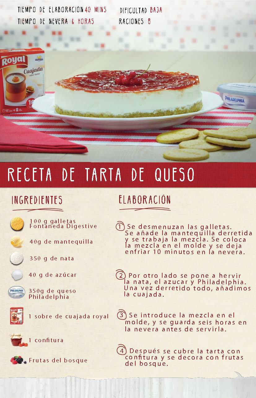 Receta Royal TARTA DE QUESO PHILADELPHIA